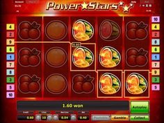Symbols of the Power Stars Speaking to the point, this game has five spinning reels and ten lines. So, it is simple gaminator slot for gamblers. The slot symbols are cherries, lemons, oranges, melons and grapes. The most profitable symbol is Lucky seven, which makes your bet 10 000 times bigger. The next important symbol is bell. Match five bells in a row and make your bet 5 000 times bigger. You can make a bet at a range of $0,04 to $10.