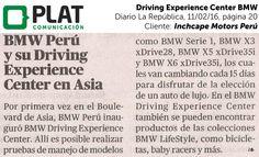 Inchcape Motors: Nuevo Driving Experience Center en Asia en el diario La República de Perú (11/02/16)