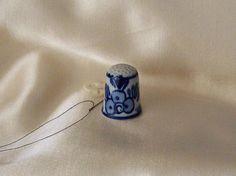 Vintage Thimble Windmill China Navy Blue Thimble by cynthiasattic, $15.00