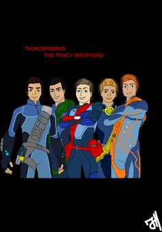 Thunderbirds Tracy Brothers by greentigergirl