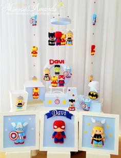 57 Ideas For Baby Boy Diy Nursery Shower Gifts Baby Boy Rooms, Baby Boy Nurseries, Marvel Nursery, Baby Avengers, Baby Kit, Baby Boy Photos, Felt Decorations, Felt Diy, Baby Play