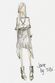 Jane by Tibi. ~Fashion Illustration is something that will always make me feel tingly on the inside...