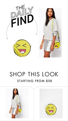"""Daily Find: Skinnydip Emoji Face Crossbody Bag"" by polyvore-editorial ❤ liked on Polyvore featuring Skinnydip and DailyFind"