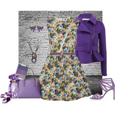 Flower Dress by armband on Polyvore featuring mode, MSGM, Oscar de la Renta, Stuart Weitzman, Kate Spade, Hermès, White House Black Market, SIYU and GUESS