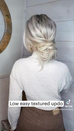 Half Updo Hairstyles, Work Hairstyles, Easy Hairstyles For Long Hair, Bride Hairstyles, Pretty Hairstyles, Updos, Medium Hair Styles, Long Hair Styles, Bridal Hair Updo