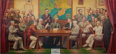 Gloucester City Hall WPA Murals City Council after Session