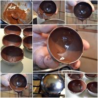 Half-sphere of chocolate © Kaderick in Kuizinn Chocolate Bomb, How To Make Chocolate, Chocolate Truffles, Chocolate Pinata, Demi Sphere Chocolat, Chocolate Bowls With Balloons, Pastry Recipes, Dessert Recipes, Decoration Patisserie