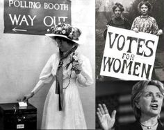Women finally won the right to vote in 1920.  Now a woman can ask for votes and run for elections and even President of the United States, but there was a time when a woman wasn't allowed to vote!