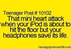 But then it falls off the headphones...