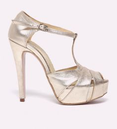 Sandale dama de piele cu toc si platforma Oriana