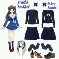 Casual cosplay of Tohru Honda (from Fruits Basket anime series)-- character inspired outfit