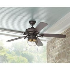 Home Decorators Collection Bromley 52 in. LED Indoor/Outdoor Bronze Ceiling Fan-34346 - The Home Depot