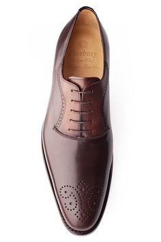 Richelieu Majestic de couleur Marron Beige - Finsbury Shoes