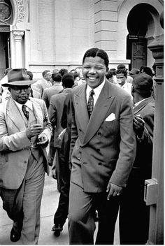 Nelson Mandela during the Rivonia Trial by Jurgen Schadeberg.  BelAfrique - your personal travel planner - www.BelAfrique.com