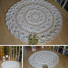 Giant Area Rugs Free Crochet Patterns-Giant Crochet Doily Rug
