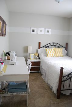 I can finally show y'all our guest room which also became my crafting/sewing room about a couple weeks ago when I realized that we almost N...