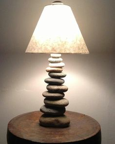 Cool lamp made of stones found in NH...