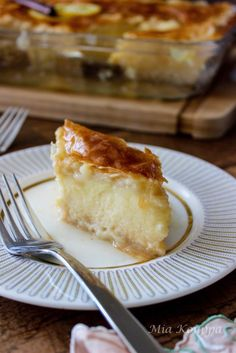 We gave it a little bit of a facelift with new pictures. All text and recipe remain the same. Greek Sweets, Greek Desserts, Greek Recipes, Lebanese Recipes, Cookie Desserts, Cannoli, Galaktoboureko Recipe, Custard Filling, Phyllo Dough