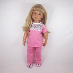 oblečky+pro+panenku+Hannah+Götz+50cm+pyžamko+z+úpletu,+kalhoty+v+pase+do+gumy,+vrchní+díl+zapínání+vzadu+na+suchý+zip+začištěno+owerlockem+produkt+mého+krejčovství+pro+panenky+Barbulka