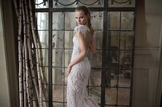 16-121 wedding dress from Berta Bridal Fall/Winter 2016 Collection - Glam fringe wedding dress - see the rest of the collection on www.onefabday.com