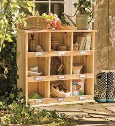 Wood Garden Storage Cubby