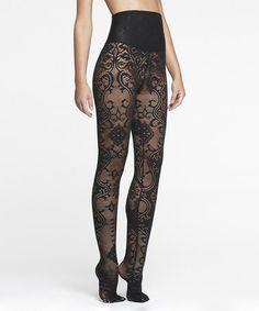 CUTE! Look at this #zulilyfind! Black Lace Shaper Tights - Women by Yummie by Heather Thomson #zulilyfinds