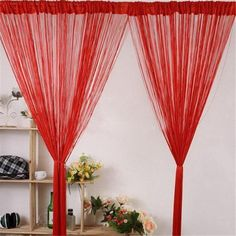 Hot Sale Striking New Line String Window Curtain Tassel Door Room Divider Scarf Valance Gift High Quality Free Shipping DN910