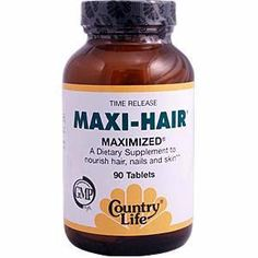 How to Grow Hair tips.   (MAXI-HAIR available at Whole Foods, I have it :)