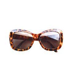 Oversized Halston Tortoise Sunglasses