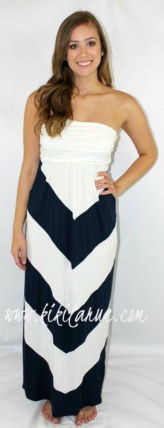 Kiki La'Rue - Morgan Maxi - Chevron  - Navy/White, $45.00 (http://www.kikilarue.com/morgan-maxi-chevron-navy-white/)