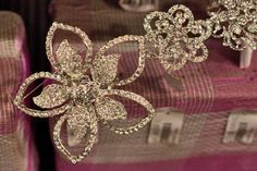 Glitzy accessories and broaches at New Covent Garden Flower Market - August 2013