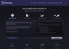 Heroku Cool Tech, Up And Running, Exo, It Works, Website Designs, Site Design, Website Layout, Nailed It, Design Websites