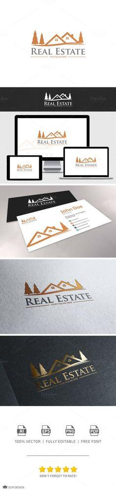 Real Estate Logo by Seceme Shop on Creative Market
