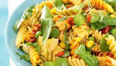 Pasta-broilerisalaatti My Cookbook, Fusilli, Pasta Salad, Salads, Food And Drink, Healthy Recipes, Healthy Food, Baking, Ethnic Recipes