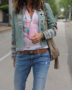 Street Style. Boho Jacket.