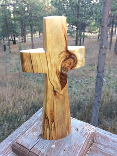 "Aspen Standing Cross with Turquoise Inlay 12 "" high x 6"" wide by BlackFacedSheep on Etsy"