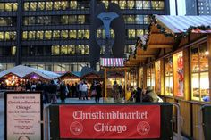 Enjoy an open-air European holiday market at the annual Christkindlmarket featuring choirs, carolers, food, and lovely ornaments for purchase. It's a wonderful way to spend a day in the center of the city. Chicago Events, European Holidays, Famous Architecture, Holiday Market, Free Admission, Night Life, Choirs, Picasso, 20 Years