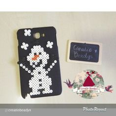 Olaf Frozen case perler beads by creatiebeadys