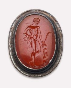 Oval gem with an athlete at rest, Greek - 2nd–1st century B.C. Carnelian | Museum of Fine Arts, Boston
