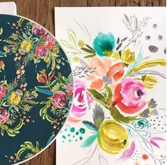 This is what happens when you turn a beautiful sketch into a fabulous fabric…