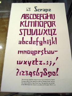 Preissig Scrape Specimen poster - cut into wood by virgin wood type