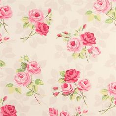 "Clarke and Clarke English Rose Grey Fabric 137cm//54/"" wide"