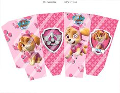 Paw Patrol Skye Mini Popcorn Box Party by PartyWithMeCreations