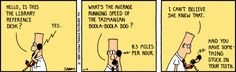 Dilbert reference librarian strip