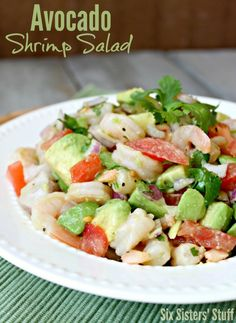 Avocado Shrimp Salad is perfect for lunch today... and it's healthy :)