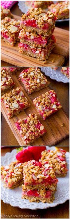 Healthy Strawberry Oak Squares #Food #Drink #Trusper #Tip