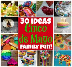 30 Fun Family Ideas for Cinco de Mayo... there are lots of fun ways to make Cinco de Mayo a fun celebration for your family.  Check out these amazing, family-friendly ideas for Cinco de Mayo!  Great for your home, your classroom, or your next fiesta-inspired party!