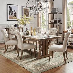 SIGNAL HILLS Paloma Salvaged Reclaimed Wood Rectangular Trestle Table | Overstock.com Shopping - The Best Deals on Dining Tables