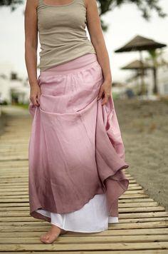 Růžová to může být...hedvábná sukně