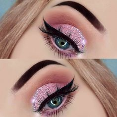 Pink diamonds Eye look by @ataszyk feat. #DiamondCrushers shade in FLUKE.